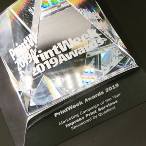 PrintWeek Awards 2019 'Marketing Campaign of the Year'