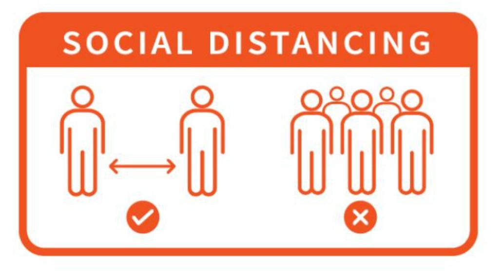 Social Distancing Floor Vinyl